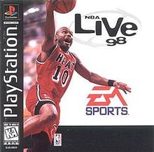 Nba live 98 front