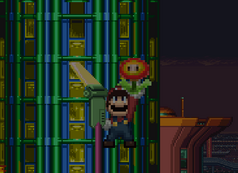 Mario with fireflower