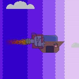 Flying ship 256