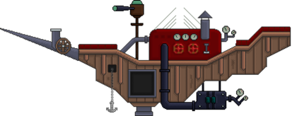 3 flying pirate ship