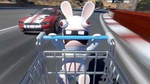 Rabbids Cart Trailer - TrackMania 2 Canyon