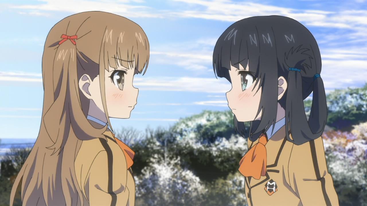 Nagi No Asukara 17 Sayu Miuna Grown Up Time Skip Middle School Uniforms Friends Arguement Blush
