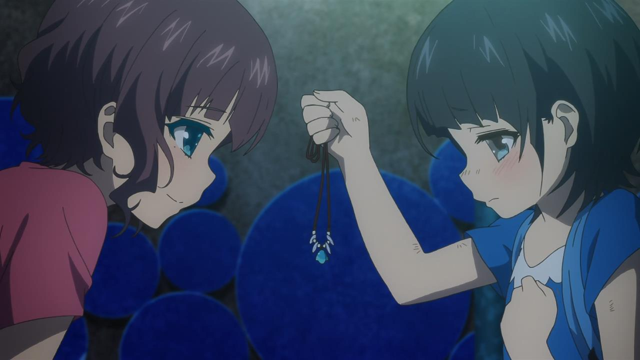 Nagi No Asukara 08 Akari Miuna Family Necklace Present Seashell Heartwarming