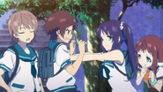Chisaki protecting Manaka
