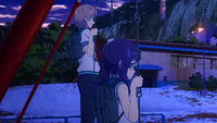 Kaname and Chisaki have a talk