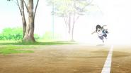 Hikari falls into Tsumugu