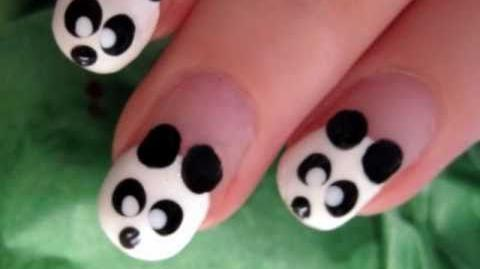 Cute & Easy Panda Nail Art