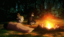Anya left outside with Himiko and Makino