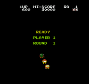 Dig Dug II Starting Round Screen