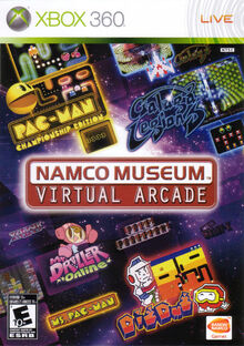 Namco Museum Virtual Arcade Xbox 360 front cover
