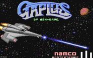 Gaplus Commodore 64 Title Screen