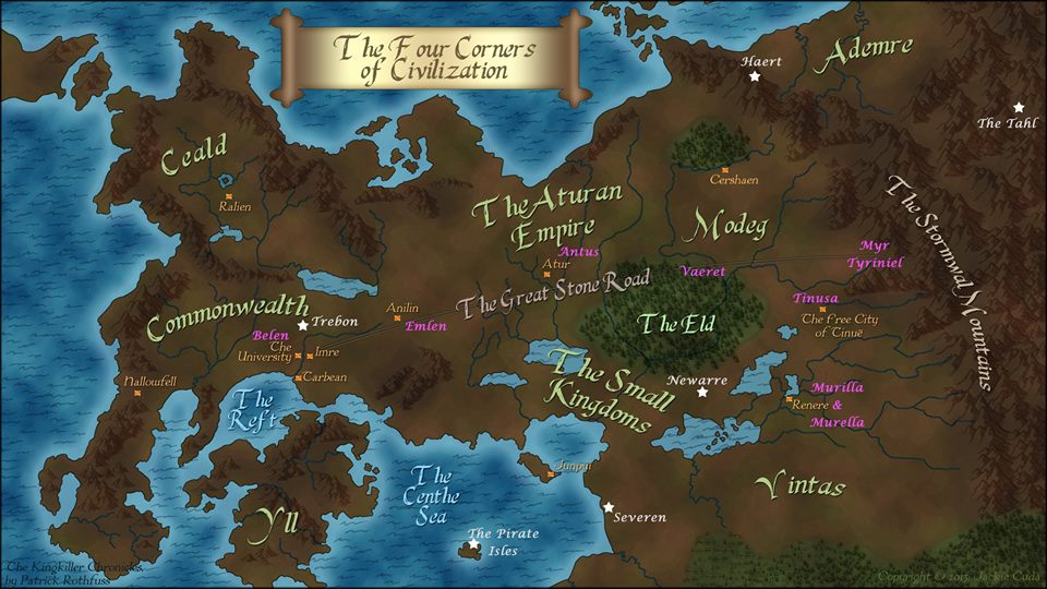 Kingkiller Chronicles Map User blog:Xxtayce/THEORY: Speculative more detailed KKC map