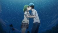 Yamada kisses Meiko