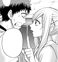 Urara tells Ryu that he must kiss Meiko