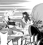 Ryu kicks Atsuhito