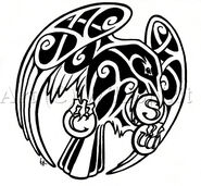 Celtic raven tattoo commish by wildspiritwolf