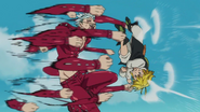 Meliodas taking Ban's punch spree