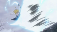 Meliodas returning Gilthunder attack