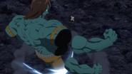Meliodas cuts Drole's arms