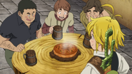 Meliodas serving his special pie
