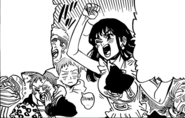 Diane and King cheering they friends on