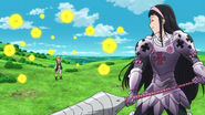 Guila about to use Chain Explosion on Meliodas