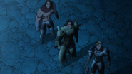 Dreyfus, Hauser and Griamor watching the crossing shooting stars