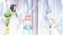 Elizabeth talking with Ludociel and Nerobasta