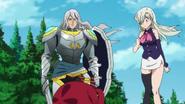 Zaratras and Elizabeth look at red demon Hawk