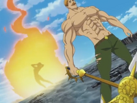 Melascula burned by Escanor's soul