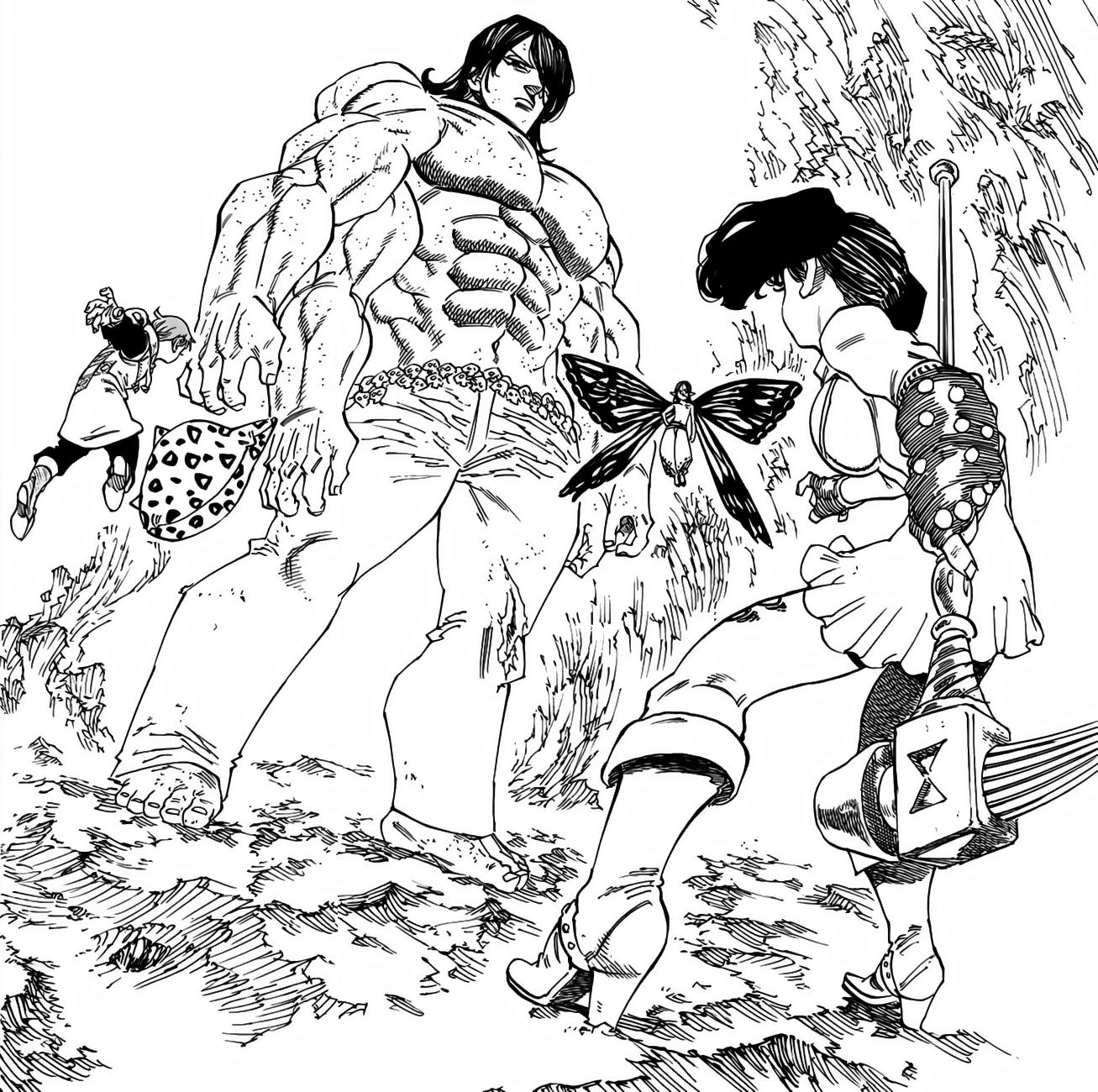 Diane & King vs  Drole & Gloxinia | Nanatsu no Taizai Wiki