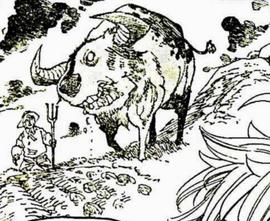 Dusk bison