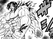 Meliodas slicing Drole's back
