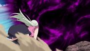 Elizabeth about to get hit by Dark Nebula