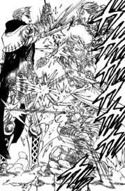 Arthur attacking Hendrickson