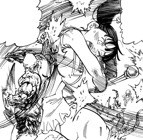 File:Diane and King fighting Drole Golem and Gloxinia Servant.png