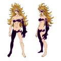 Diseño de Derieri anime