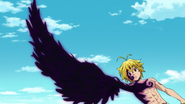 Meliodas forming a wing from the black mark
