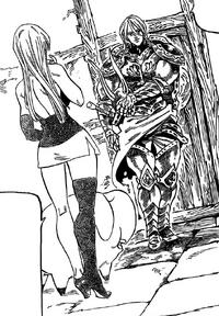 Zaratras appears in front of Elizabeth