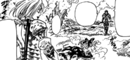 Geera and Jericho defeating Meliodas and Ban