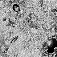 Merlin rendering Meliodas unconscious ten years ago