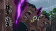 Meliodas using Enchantment Hellblaze on Dale