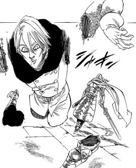 Zaratras kills a vampire Holy Knight
