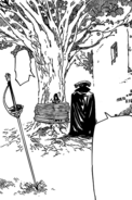 Geera being tied to a tree