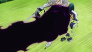 Derieri smashes Zaratras' shield