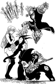 Zeldris and Estarossa ready to attack Meliodas