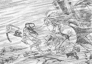Meliodas y Ban vs Geera