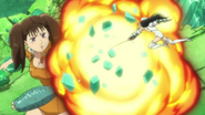 Guila using her power to destroy the crystal