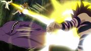 Ludociel attacks Monspeet and Derieri