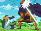 King vs. Helbram (Vaizel Fight arc)